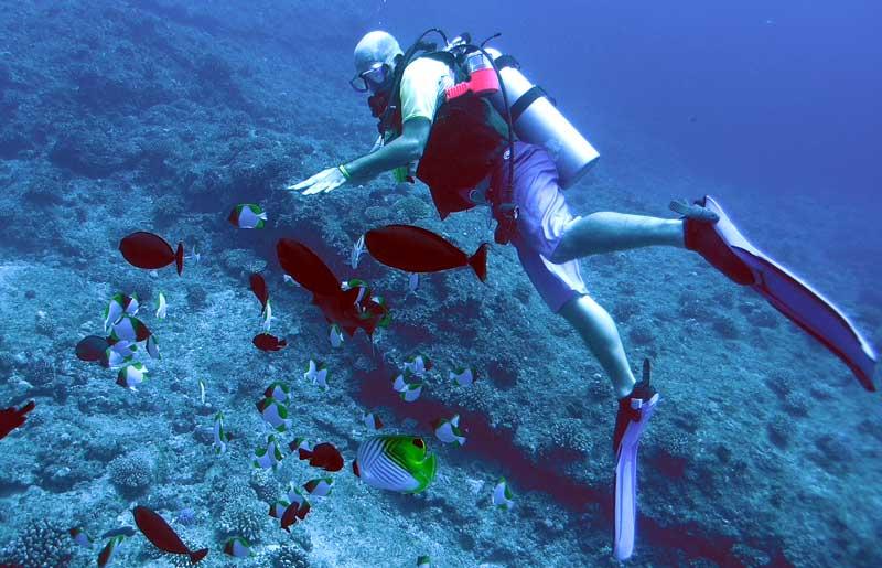 scuba diving on saipan