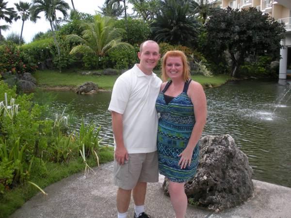 Chris and Kayla on Saipan