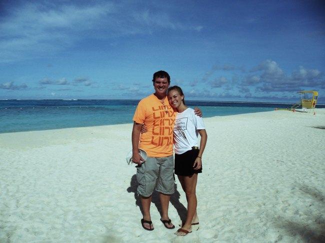 tikla and austin  on Saipan